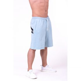 Pantaloni scurti Nebbia Be Rebel, albastru deschis
