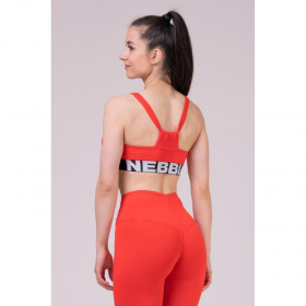 Bustiera Nebbia Athletic Cut Out, Rosu